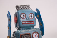 Retro toyrobot Arkivfoto
