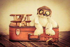 Retro toys. Travel and adventure concept Royalty Free Stock Image