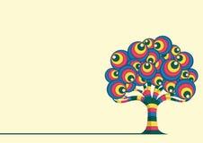 Retro trädvektorillustration Arkivbilder