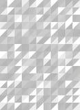 Retro trójboka wzór w popielatym, białym i bezszwowym wektorze, Obrazy Stock