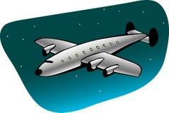 retro trafikflygplan Arkivbild
