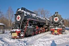 Retro train Royalty Free Stock Images