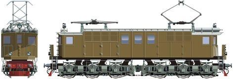 Retro train locomotive Stock Photo