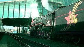 Retro train station Samara stock footage