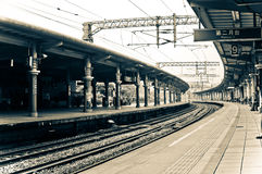 Retro Train Station, Taiwan. A retro train station in one of the cities in Taiwan will give you a sense of classy feeling Stock Image