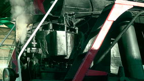 Retro train. The steam from the engine 2 stock footage