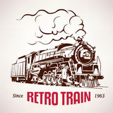 Retro train, vintage  vector symbol Royalty Free Stock Photos