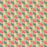 Retro Traingle-Patroon Vectorillustratie Royalty-vrije Stock Afbeeldingen