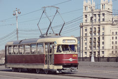 Retro tram Royalty-vrije Stock Foto