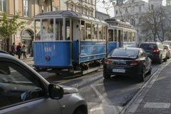 Retro tram Stock Foto's