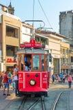 Retro tram a Costantinopoli Immagine Stock