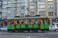 RETRO tram d'annata Siemens sulle vie di Sofia Fotografia Stock