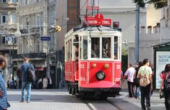 Retro tram Stock Photo