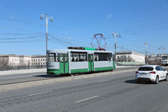 Retro Tram in Moscow Royalty Free Stock Photos