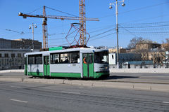 Retro Tram in Moscow Royalty Free Stock Photography