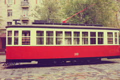 The retro tram Royalty Free Stock Photo