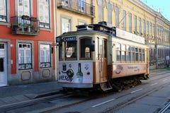 Retro tram in Porto Royalty-vrije Stock Afbeelding