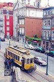 Retro tram in Porto, Portugal. Royalty Free Stock Photography