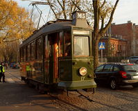 Retro tram on the street. Stock Photography