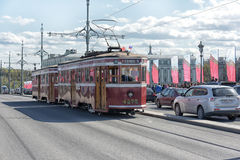 Retro Tram Stock Image