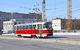 Retro trams in Moscow Stock Photography