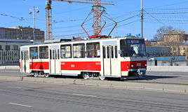 Retro trams in Moscow Royalty Free Stock Photo