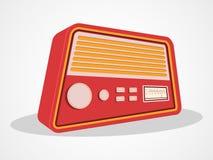 Retro transistor design. Retro transistor radio isolated on shiny white background Royalty Free Stock Images