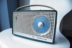 retro transistor för radio Fotografering för Bildbyråer