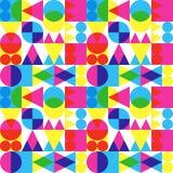 Retro transparant vormenpatroon Stock Afbeelding