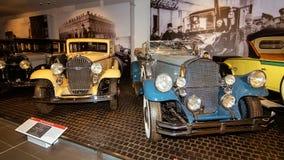 Retro transport exhibit in the Museum complex of military and civil engineering in the city of Verkhnyaya Pyshma, Yekaterinburg Ru stock image