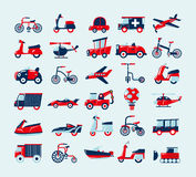 Retro transport icons set Stock Photo