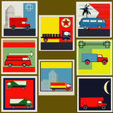 Retro Transport labels Royalty Free Stock Photos