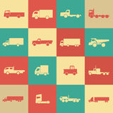 Retro transport truck icons Royalty Free Stock Images