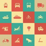 Retro transportation icons design elements Royalty Free Stock Images