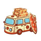 Retro Travel bus. This is file of EPS10 format Royalty Free Stock Photography