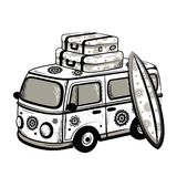 Retro Travel bus. This is file of EPS10 format Royalty Free Stock Images