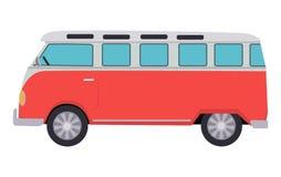 Retro Travel Red Van Stock Photography