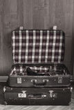 Retro travel suitcases Royalty Free Stock Photos