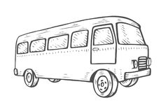 Retro travel van Stock Image