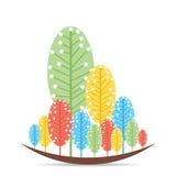 Retro tree background design Stock Photos