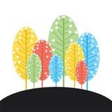 Retro tree background design Royalty Free Stock Photo