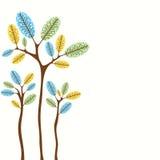 Retro tree banner design Royalty Free Stock Photos