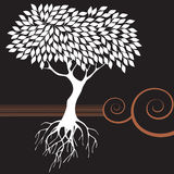 retro tree för diagram royaltyfri illustrationer