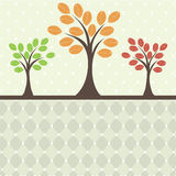 Retro tree. vector illustration Stock Photography