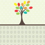 Retro tree. vector illustration Stock Image