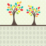 Retro tree. vector illustration Royalty Free Stock Image