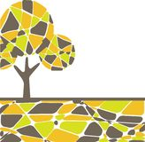 Retro tree. vector illustration Royalty Free Stock Photos