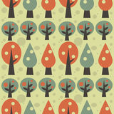 Retro trees background Royalty Free Stock Photo