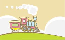 Retro Trein stock illustratie