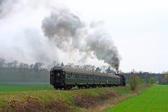 Retro trein van de stoom royalty-vrije stock foto